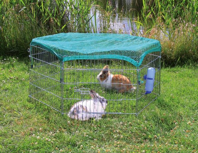 Клетки для кроликов из сетки обеспечивают хорошую вентиляцию и безопасны