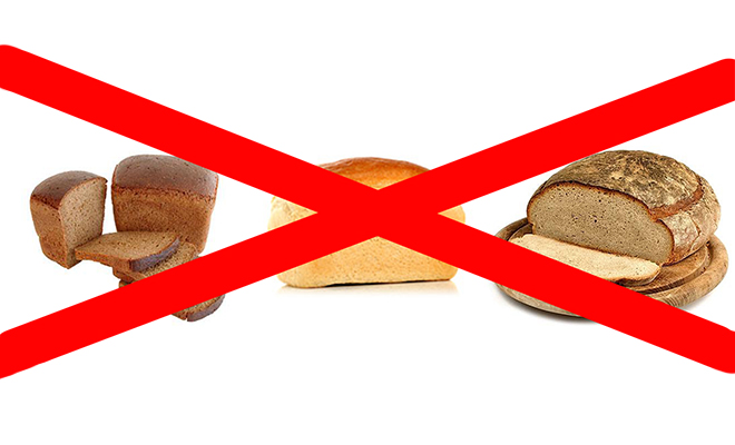 Кроликам нельзя: черный, ржаной и свежий хлеб