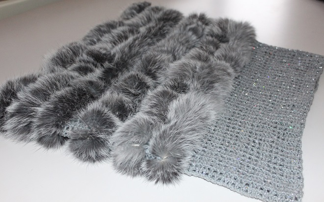 Одежда из вязаного меха легкая и изящная