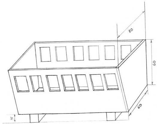 Схема-чертеж кормушки