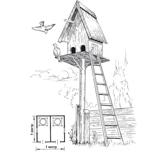 Несложная голубятня башенного типа