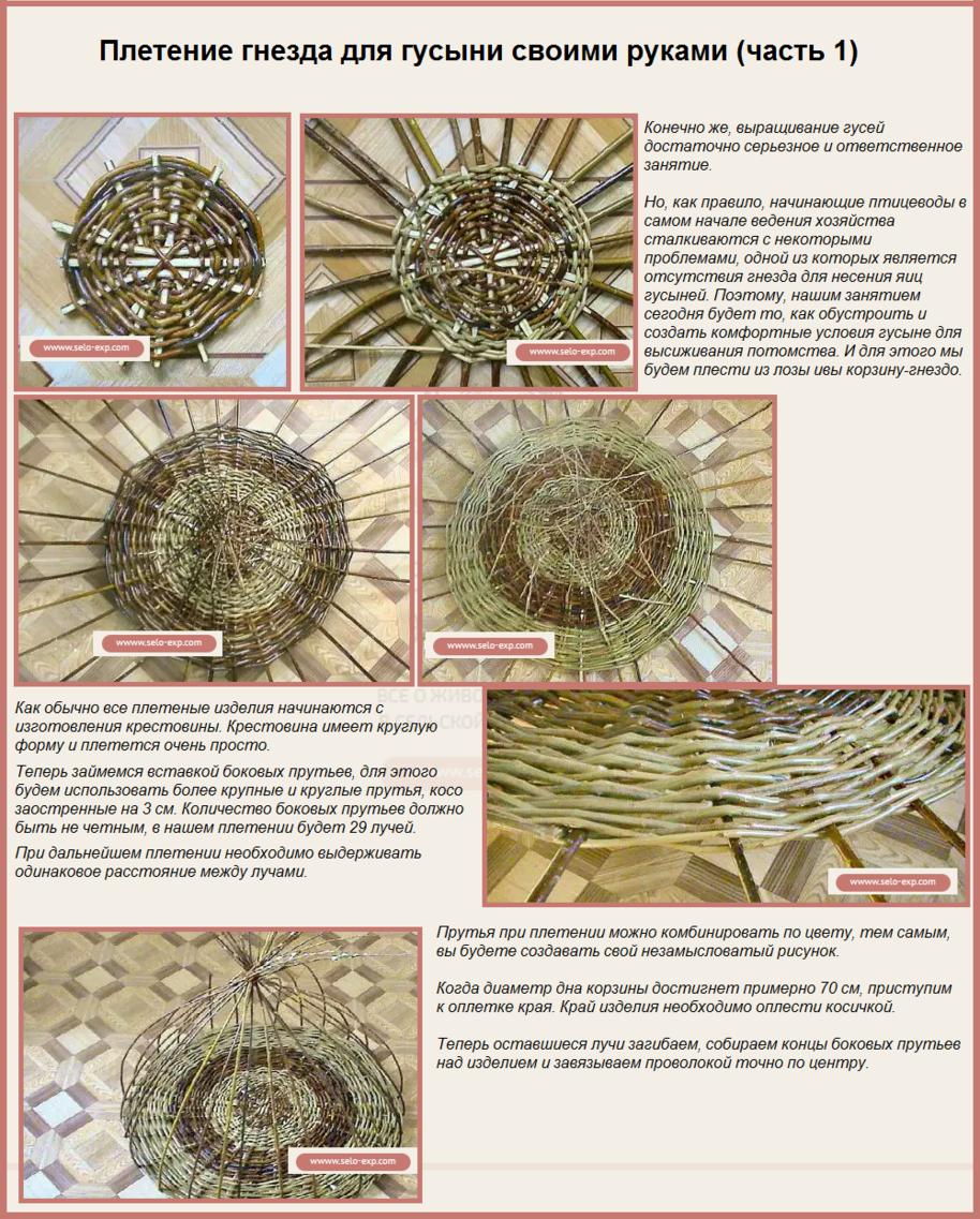 Инструкция для плетения гнезда