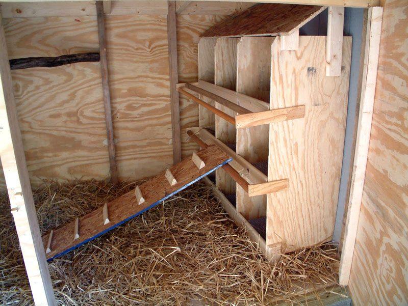 Лестница для попадания гусей в гнездо