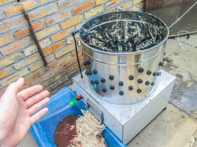 перосъемная машина для гусей своими руками